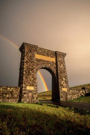 The Roosevelt Arch, Built from Rough Blocks of Columnar Basalt Quarried in Gardiner, Montana by Tom Murphy