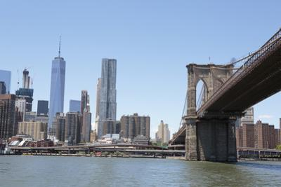 Brooklyn Bridge with One World Trade Center in the back. Manhattan skyline. New York. by Tom Norring