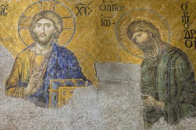 Christian Wall Mosaic. Hagia Sophia. Istanbul. Turkey