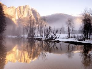 Early Morning Misty Colors in the Valley, Yosemite, California, USA by Tom Norring