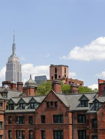 Empire State seen from the High Line. Manhattan, New York. by Tom Norring
