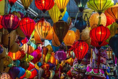 Lamp shop, Hoi An. Tet Festival, New Year celebration, Vietnam. by Tom Norring
