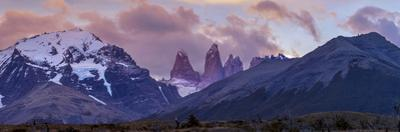 Las Torres after Sunset. Torres Del Paine NP. Chile. UNESCO Biosphere by Tom Norring