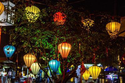 Light decoration. Hoi An. Tet Festival, New Year celebration. Vietnam. by Tom Norring