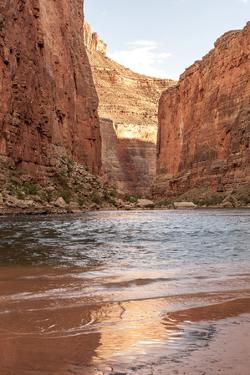 Reflections from Morning Sun. Colorado River. Grand Canyon. Arizona by Tom Norring