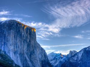 Sun Rises, First Light on Top of El Capitan, Yosemite, California, USA by Tom Norring