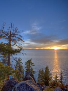 Sunset at Logan Shoals on the East Side of Lake Tahoe, Nevada, USA by Tom Norring