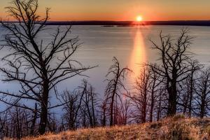 Sunset at Yellowstone Lake, Yellowstone National Park, Wyoming, USA by Tom Norring