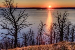Sunset at Yellowstone Lake, Yellowstone National Park, Wyoming, USA by Tom Norring
