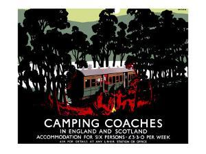 Camping Coaches by Tom Purvis