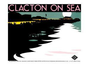 Clacton-On-Sea, LNER Poster, 1923-1947 by Tom Purvis