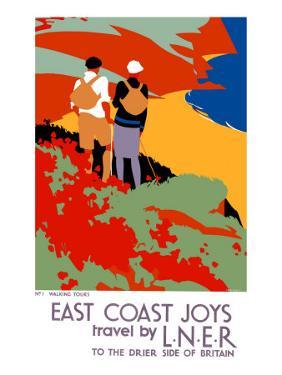 East Coast Joys, LNER Poster, 1931 by Tom Purvis