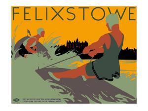 Felixstowe, LNER Poster, 1923-1947 by Tom Purvis