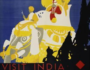 Visit India Poster by Tom Purvis