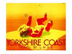 Yorkshire Coast, LNER Poster, 1923-1947 by Tom Purvis