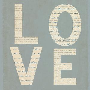 Love Script on Blue by Tom Quartermaine