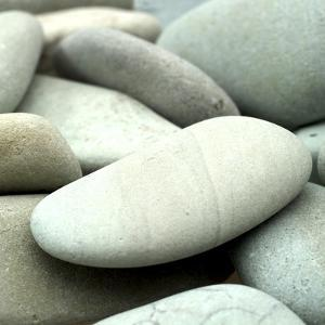 Pale Blue Stones from Beach by Tom Quartermaine