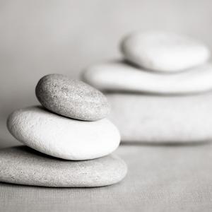 Piles of Stones BW 01 by Tom Quartermaine