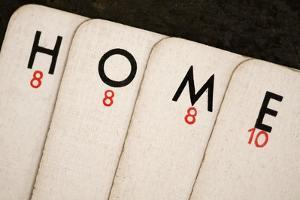 Playing Cards - Spelling 'Home' by Tom Quartermaine