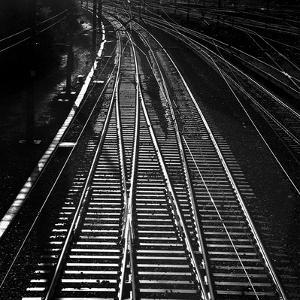 Railway Tracks BW by Tom Quartermaine