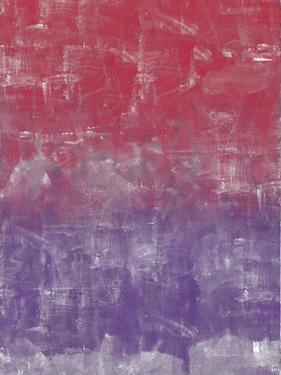Red and Purple Abstract Painting by Tom Quartermaine