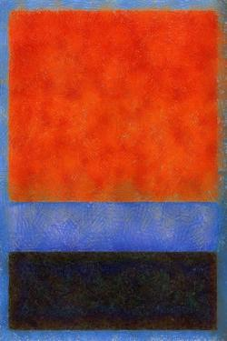 Rothko Style Red Black And Blue by Tom Quartermaine