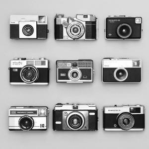 Set of 9 Antique Cameras by Tom Quartermaine