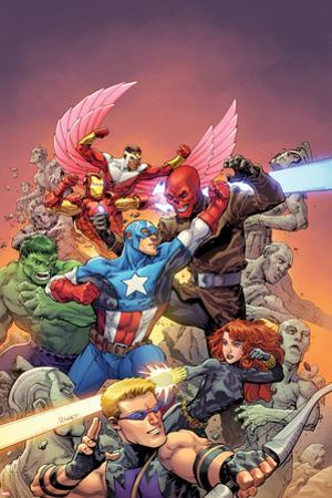 Avengers Vs No. 1 Cover, Featuring: Hawkeye, Black Widow, Captain America, Red Skull, Hulk and More