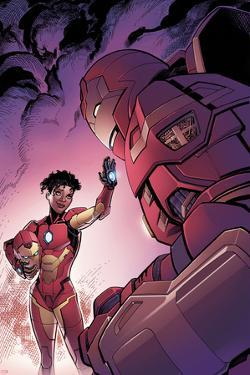 Invincible Iron Man #1 Variant Cover Art Featuring Ironheart, Riri Williams, Iron Man by Tom Raney
