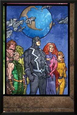 Secret Invasion: Inhumans No.4 Group: Black Bolt, Medusa, Karnak, Gorgon, Crystal and Triton by Tom Raney
