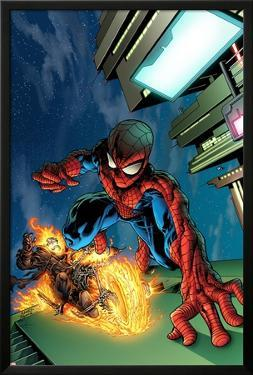Timestorm 2009/2099 No.4 Cover: Spider-Man and Ghost Rider by Tom Raney