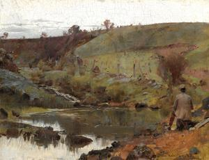 A quiet day on Darebin Creek by Tom Roberts