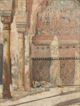 Basking - a corner in the Alhambra by Tom Roberts