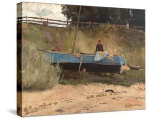 Boat on beach, Queenscliff by Tom Roberts