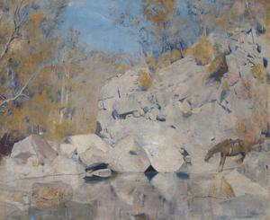 In a corner on the Macintyre (The bushranger) by Tom Roberts