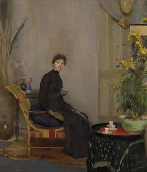 Mrs L. A. Abrahams by Tom Roberts