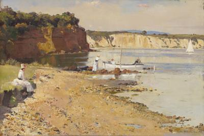 Slumbering sea, Mentone by Tom Roberts