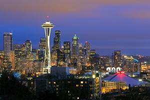 Seattle Skyline by Tom Schwabel