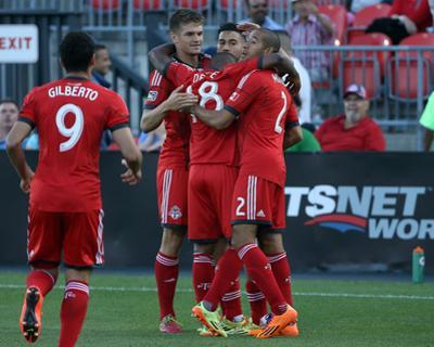 Aug 23, 2014 - MLS: Chicago Fire vs Toronto FC - Jonathan Osorio, Jermain Defoe, Justin Morrow