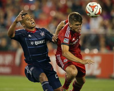 Aug 23, 2014 - MLS: Chicago Fire vs Toronto FC - Quincy Amarikwa, Nick Hagglund