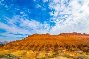 Coloful Forms at Zhanhye Danxie Geo Park, China Gansu Province, Ballands Eroded in Muliple Colors by Tom Till