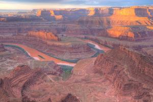Orange Colorado River, Dead Horse Point, Utah Colored Water from Red Soil Runoff by Tom Till
