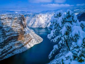 Snow, Red Canyon, Green River by Tom Till