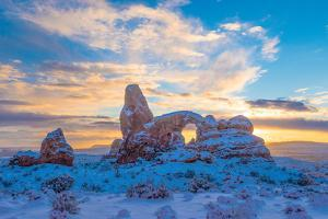 Snowy Sunset at Turret Arch, Arches National Park, Utah Windows Section by Tom Till