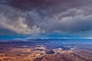 Storm Clouds at Green River Overlook, Canyonlands National Park, Utah, Island in the Sky District by Tom Till
