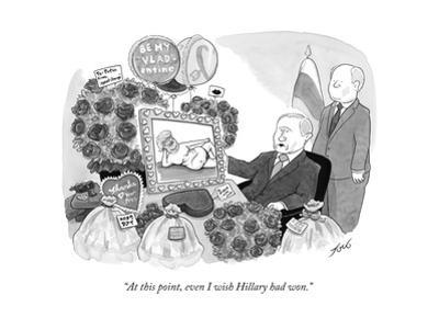 """At this point, even I wish Hillary had won."" - Cartoon"