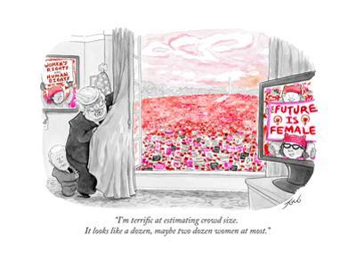 """""""I'm terrific at estimating crowd size. It looks like a dozen, maybe two d…"""" - Cartoon"""