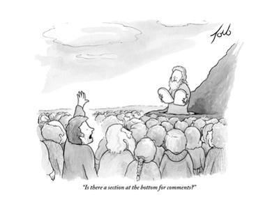 """""""Is there a section at the bottom for comments?"""" - New Yorker Cartoon"""