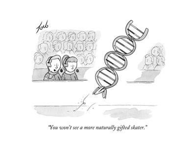 """""""You won't see a more naturally gifted skater."""" - New Yorker Cartoon"""