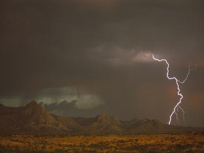 Monsoon Rains and Lightning over the Santa Rita Mountains, Arizona